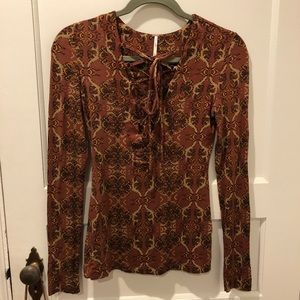 FREE PEOPLE lace up top NWOT